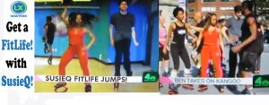 SusieQ FitLife Jumps on LXNY NBC!