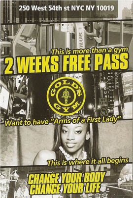 Gold's Gym Pass SusieQ Arms of a First Lady DVD Launch