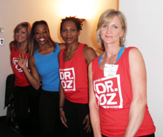 SusieQ FitLife Crew behind the scenes on the Dr. Oz Show!