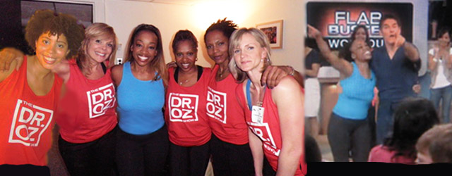 SusieQ FitLife behind the scenes on the Dr. Oz Show!