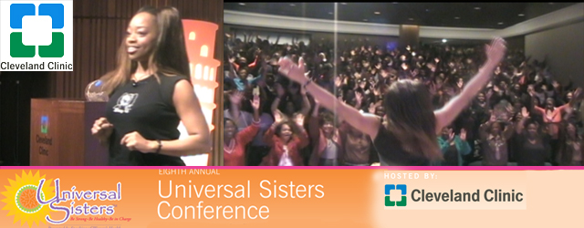 The Cleveland Clinic celebrated their 8th annual Universal Sisters: Live Younger Longer event, hosted by Dr. Linda D. Bradley in Cleveland, Ohio.  The event Keynote Speaker was National Celebrity Fitness...