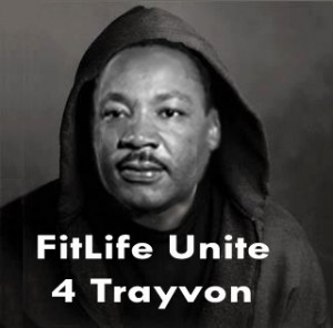 Martin Luther King wears hoodie for Trayvon Martin on SusieQ FitLife Unite!