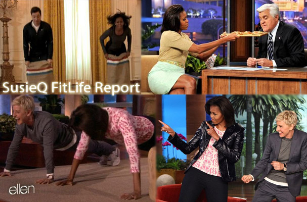 Michelle Obama on Late Night & Daytime TV Shows from SusieQ FitLife!