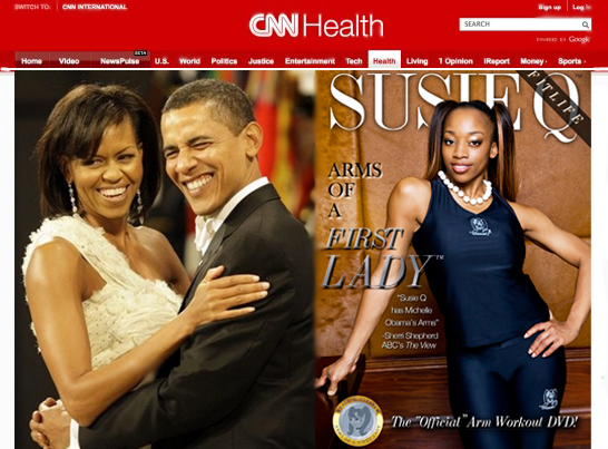 CNN Speaks on SusieQ FitLife Arms of the First Lady DVD!