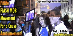 Harlem4Obama & SusieQ FitLife Flash Mob Dance Broadcast Live! Susie Q