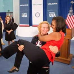 Michelle Obama with Olympic Female Wrestler on SusieQ FitLife