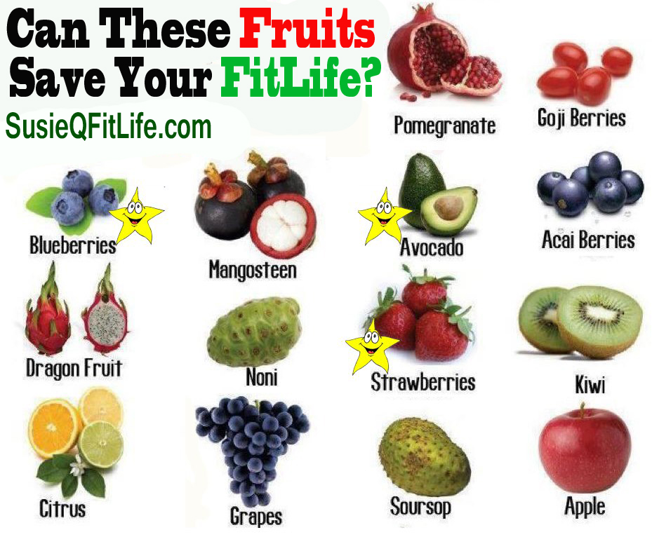 Can Antioxidant, Cancer Fighting Fruits Can Save Your Life on SusieQ FitLife!