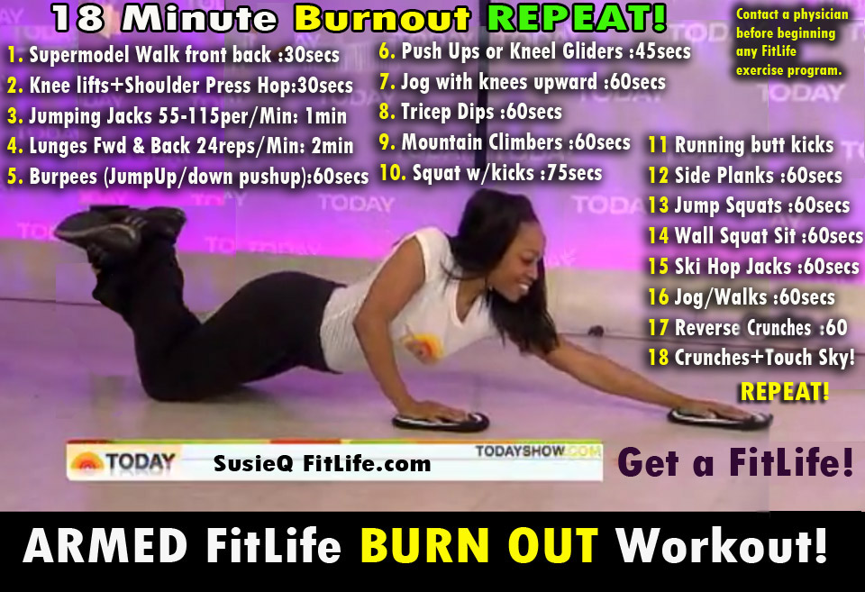 18 Minute BurnOut Workout from SusieQ FitLife