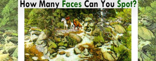 """You'll be amazed to know that the """"Eyes Can Trick the Mind that leads the Body to Get a FitLife!"""" Tell us how many faces you can spot in the..."""