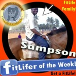 FitLifer of the WEEK on SusieQ FitLife is Sampson