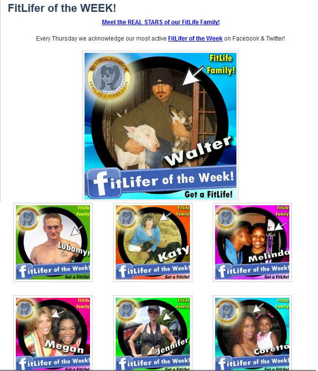 FitLifers of the Week on the SusieQ FitLife Family Team!