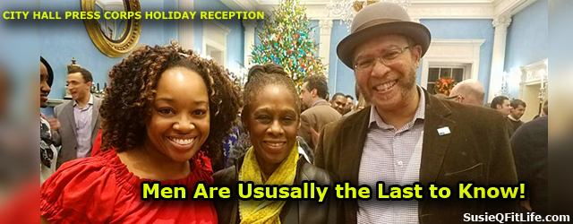 We were at the City Hall Press Corps Holiday Reception Party around this time last year while I was secretly pregnant with my second baby and my husband Michael Benjamin...